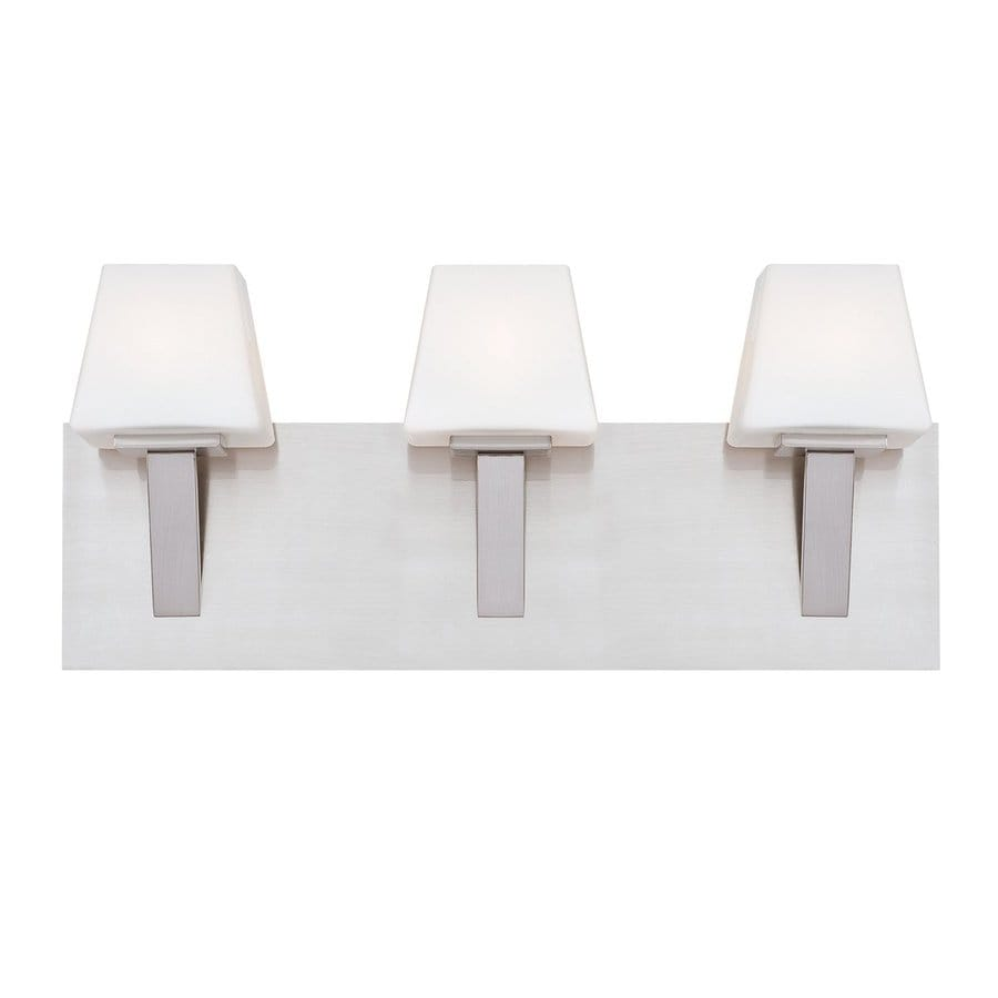 Eurofase Anglo 3-Light 8-in Satin Nickel Vanity Light