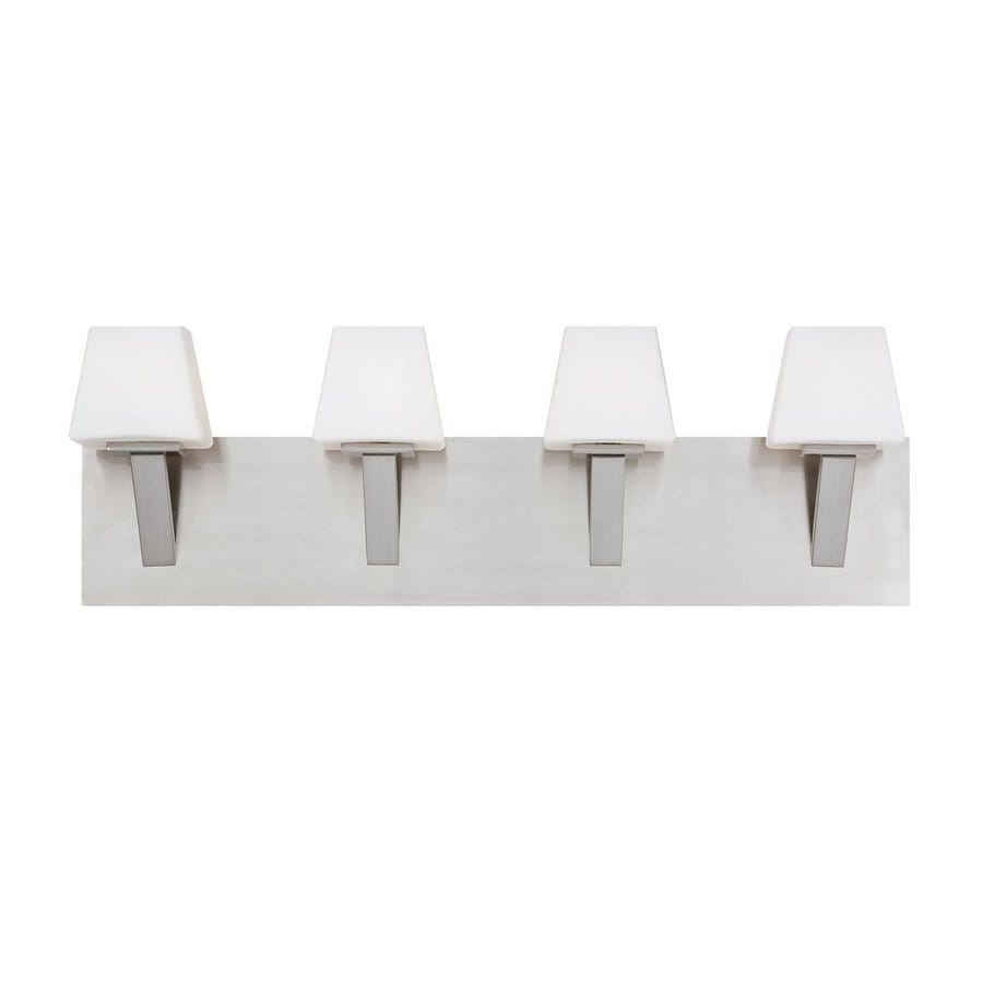 Eurofase Anglo 4-Light 8-in Satin Nickel Vanity Light