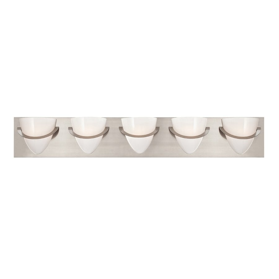 Eurofase Forma 5-Light Satin Nickel Vanity Light