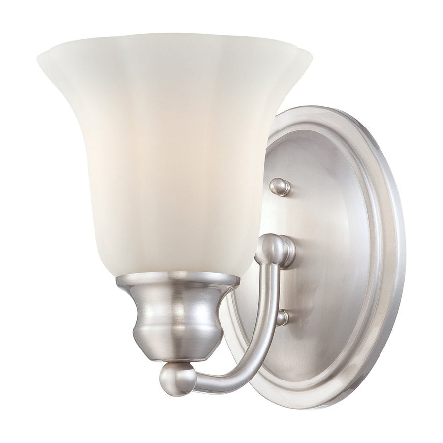 Eurofase Fountaine 6-in W 1-Light Satin Nickel Arm Hardwired Wall Sconce