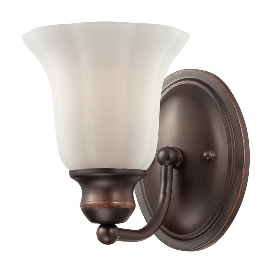 Eurofase Fountaine 6-in W 1-Light Oil Rubbed Bronze Arm Wall Sconce