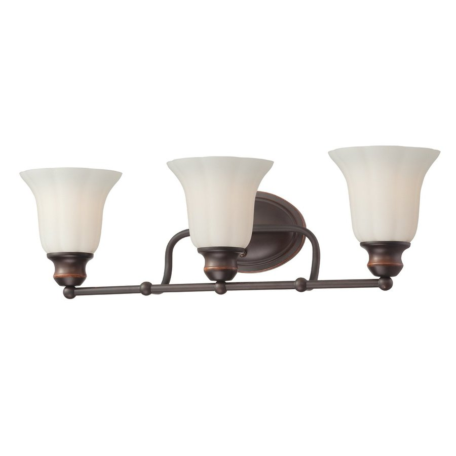 Eurofase Fountaine 3-Light 7-in Oil Rubbed Bronze Bell Vanity Light