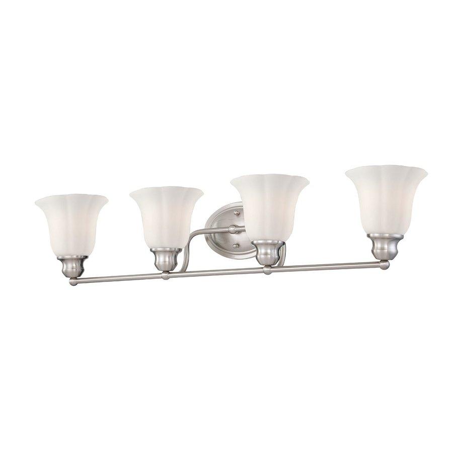 Eurofase Fountaine 4-Light 7-in Satin Nickel Vanity Light