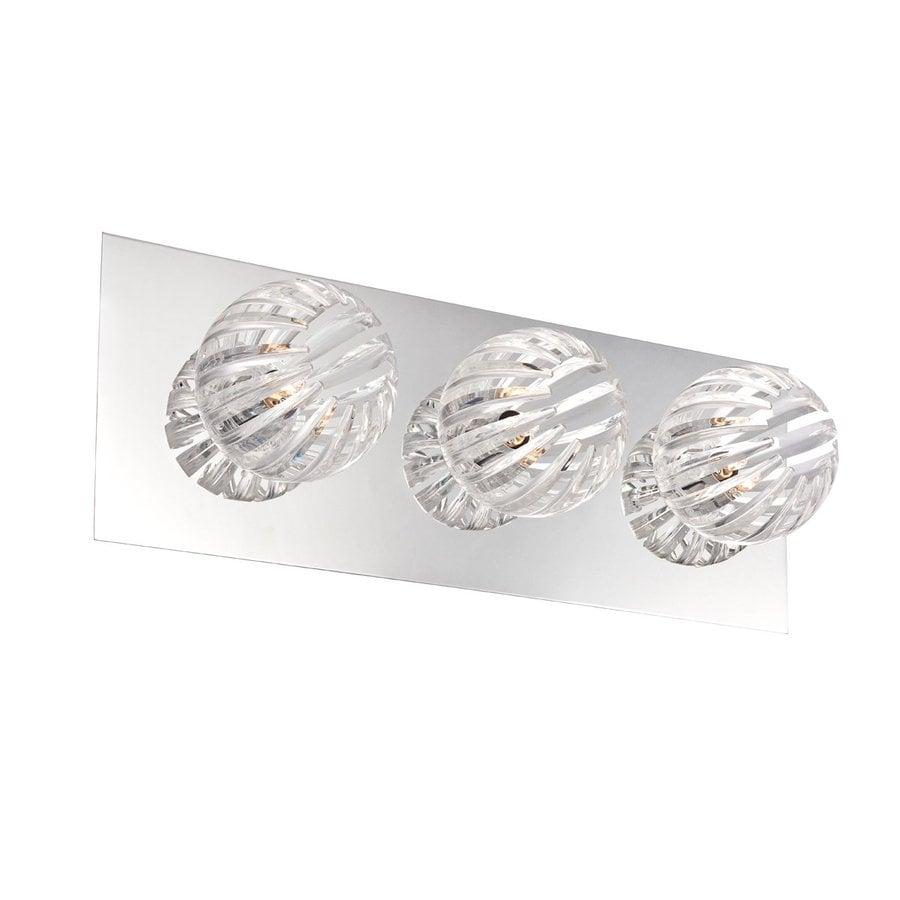 Eurofase Cosmo 3-Light 5-in Chrome Cage Vanity Light