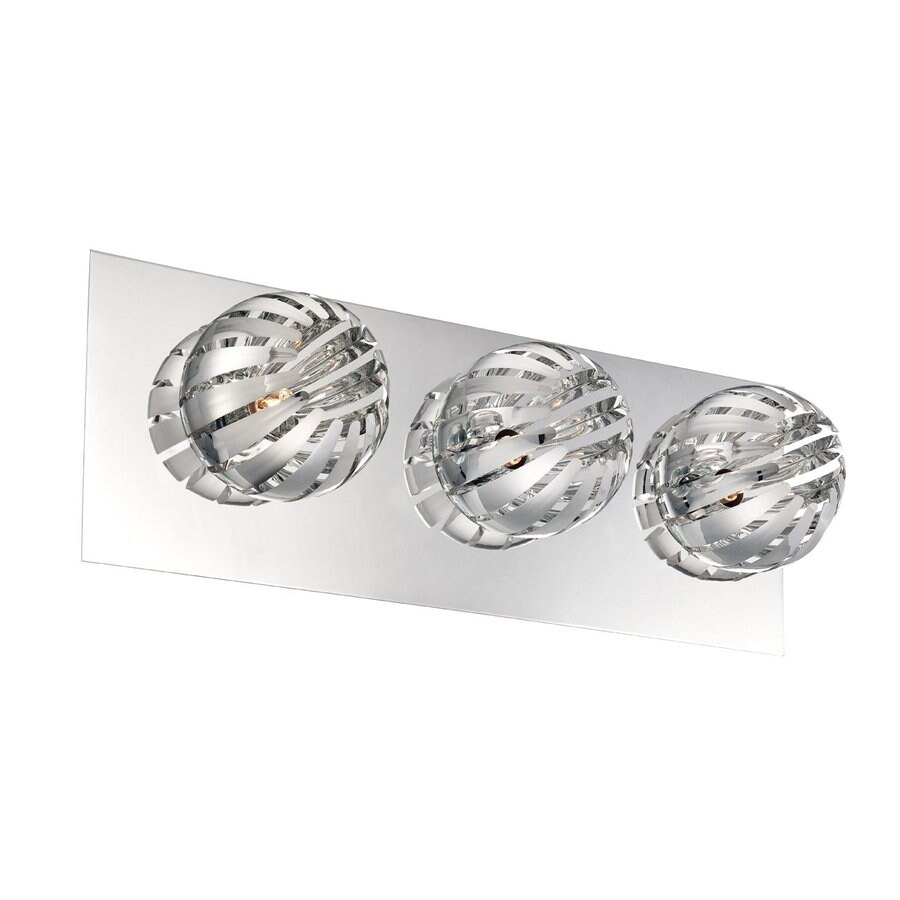 Eurofase Cosmo 3-Light 5-in Chrome Cage Vanity Light