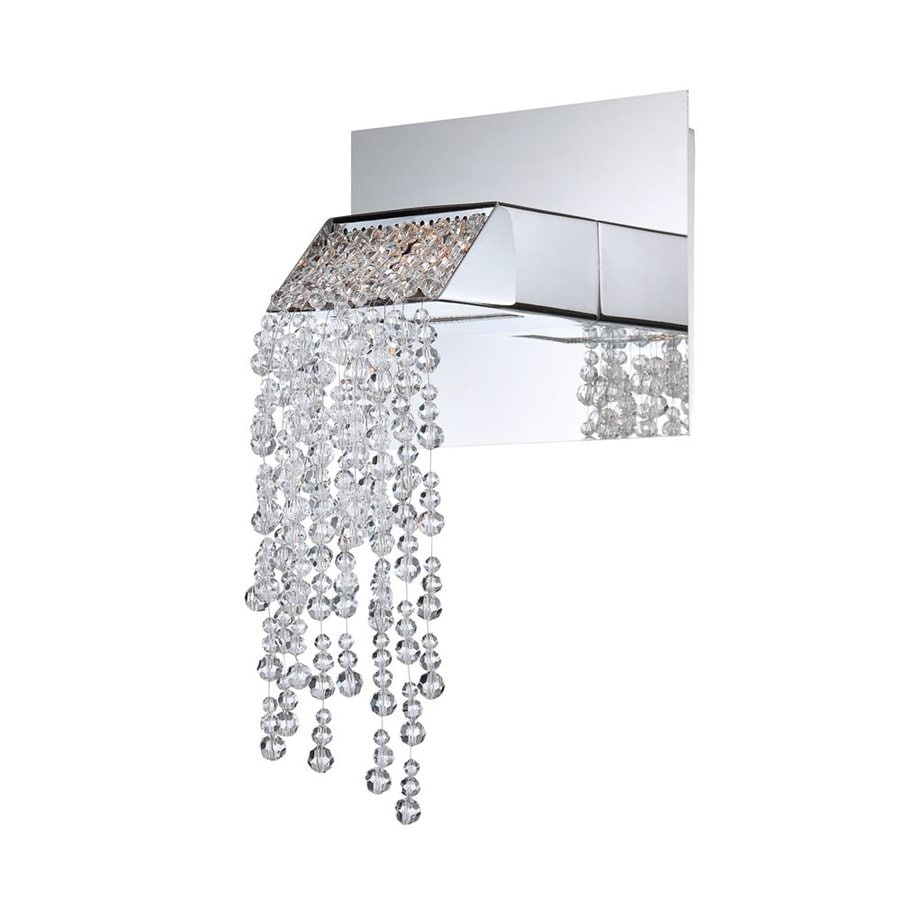 Eurofase Fonte 6.25-in W 1-Light Chrome Arm Hardwired Wall Sconce