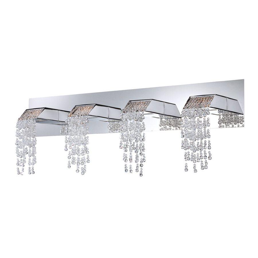 Eurofase Fonte 4-Light 11-in Chrome Waterfall Vanity Light