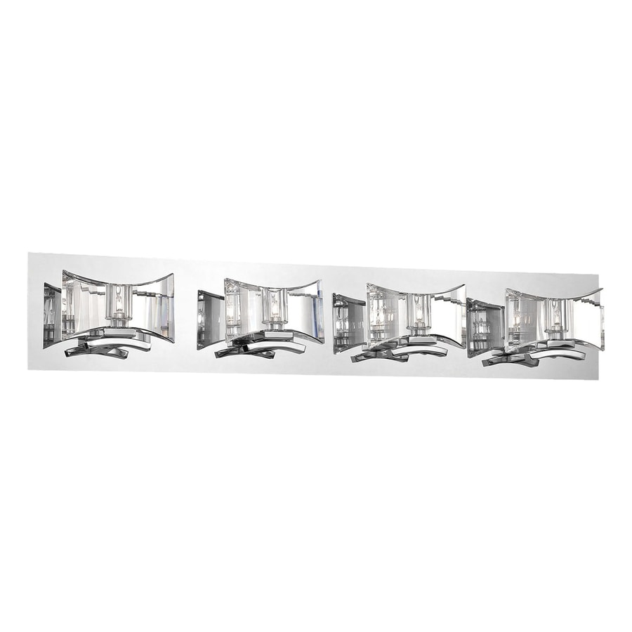 Eurofase Uzo 4-Light 6-in Chrome Geometric Vanity Light