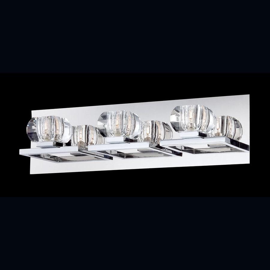 Eurofase Casa 3-Light 5.25-in Chrome Bowl Vanity Light