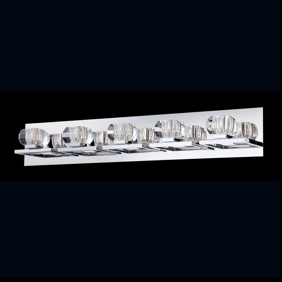 Eurofase Casa 5-Light 5.25-in Chrome Bowl Vanity Light