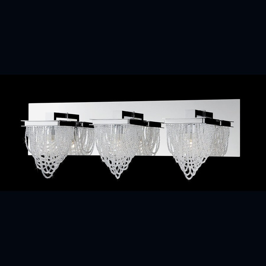 Eurofase Rio 3-Light 7.5-in Chrome Waterfall Vanity Light