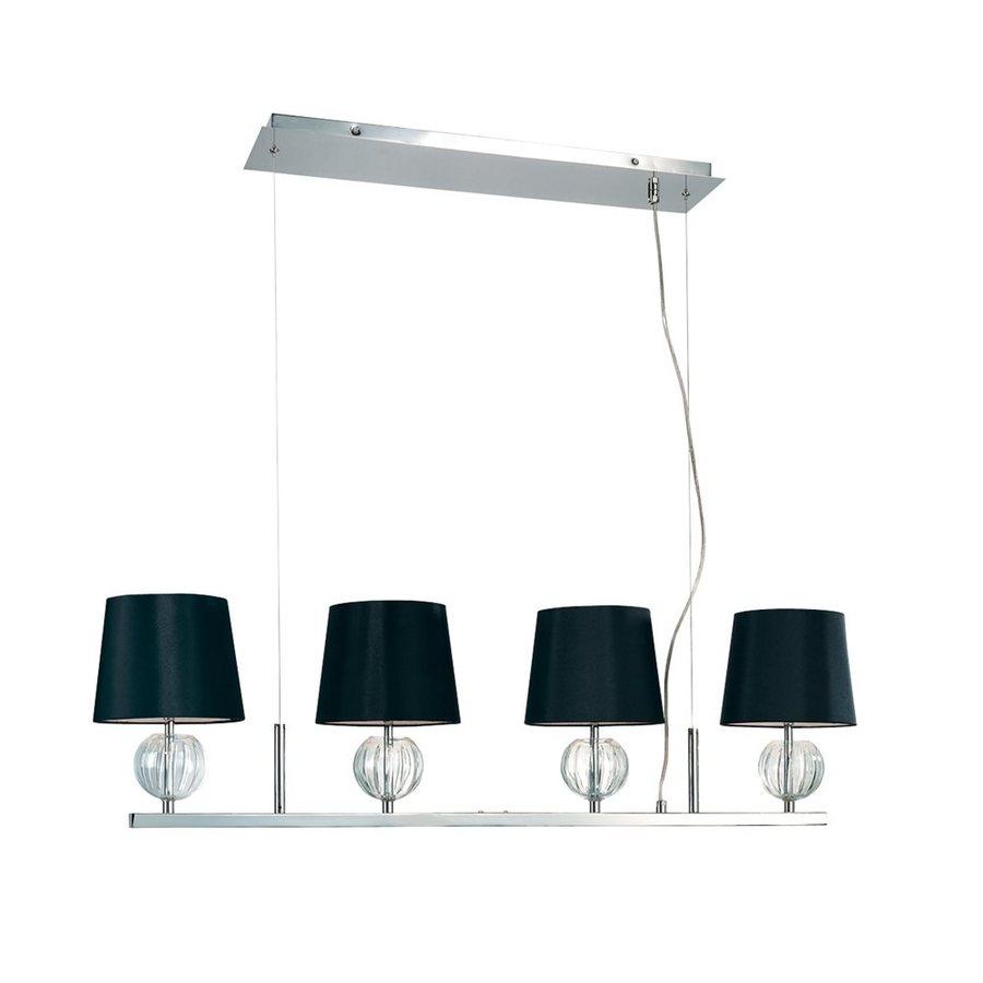 Eurofase Speranza 8-in W 4-Light Chrome Kitchen Island Light with Fabric Shade