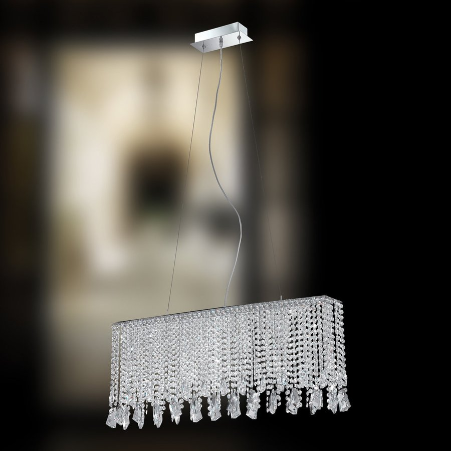 Eurofase Mille 5.5-in W 6-Light Chrome Kitchen Island Light with Crystal Shade