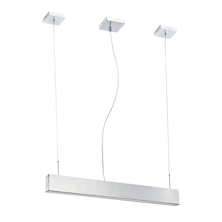 Eurofase Anello 1.75-in W 1-Light Chrome Kitchen Island Light with Frosted Shade