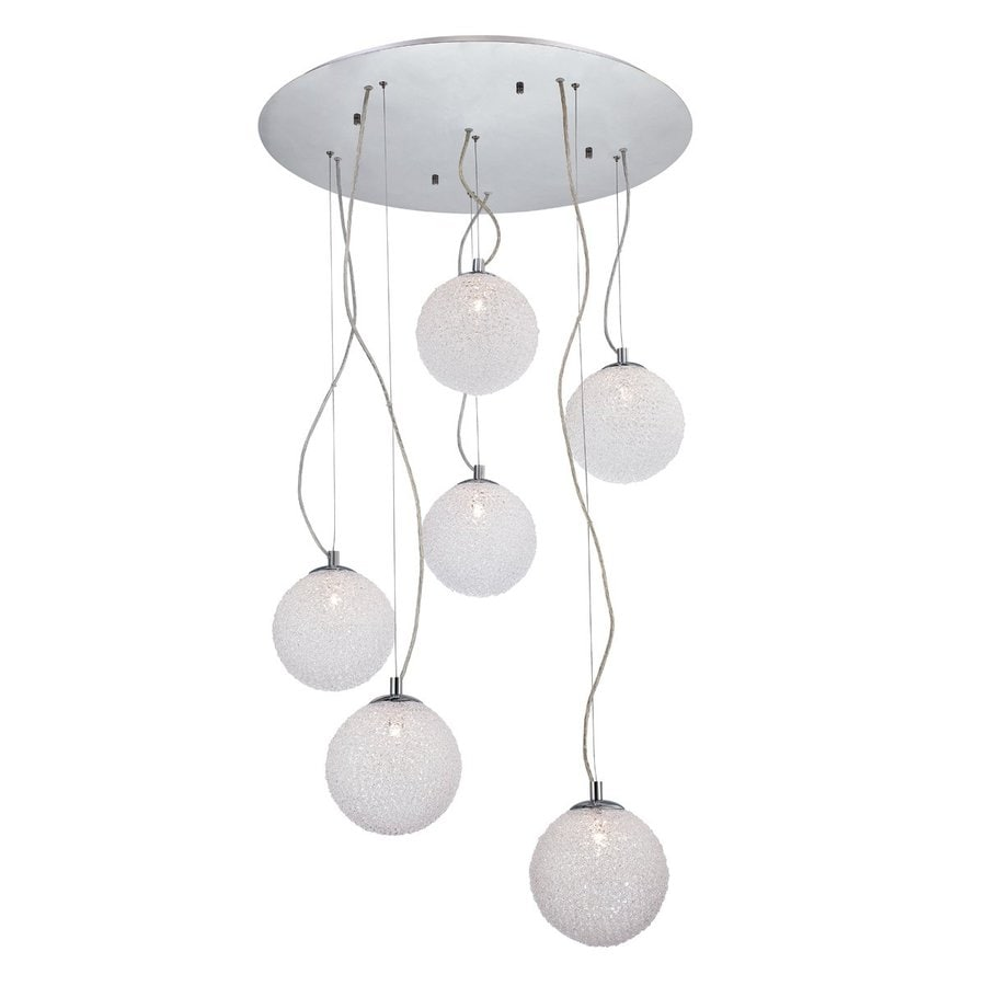 Eurofase Melody 27.5-in Chrome Multi-Light Globe Pendant