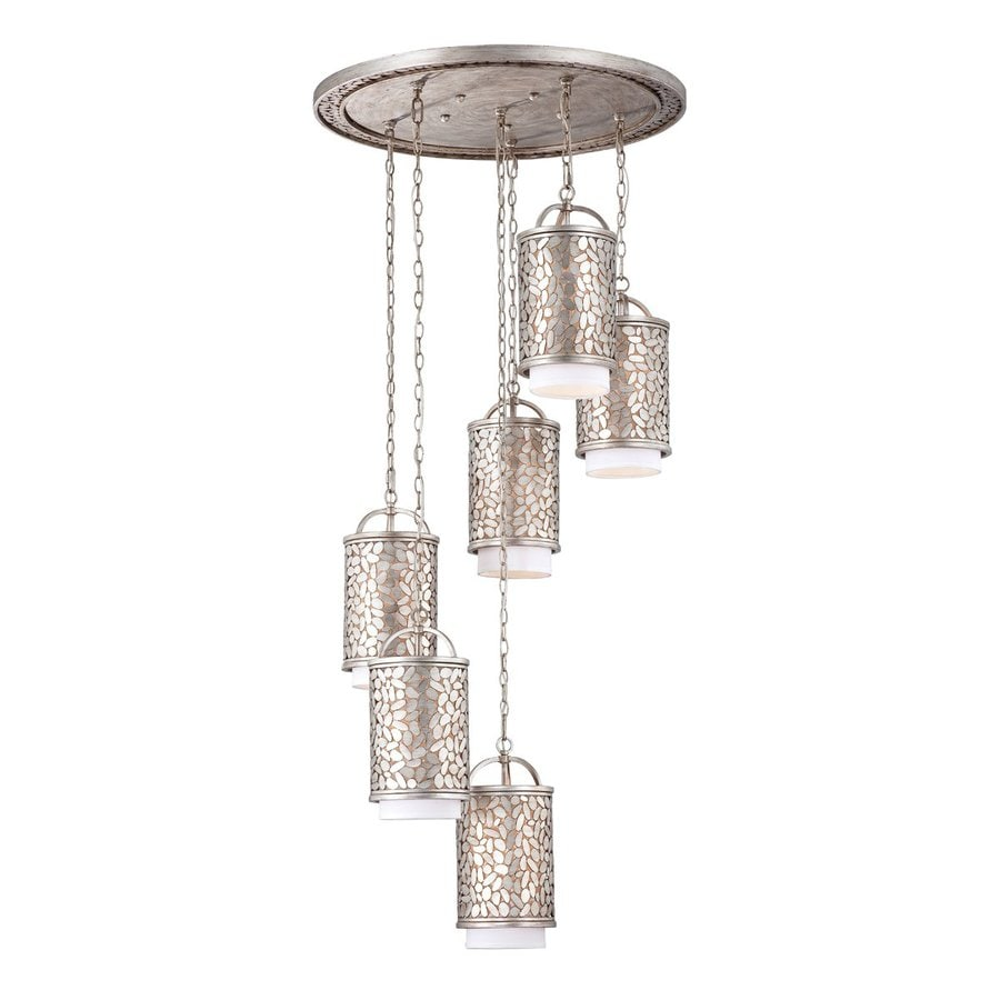 Eurofase Amano 30-in Silver Vintage Multi-Light Cylinder Pendant