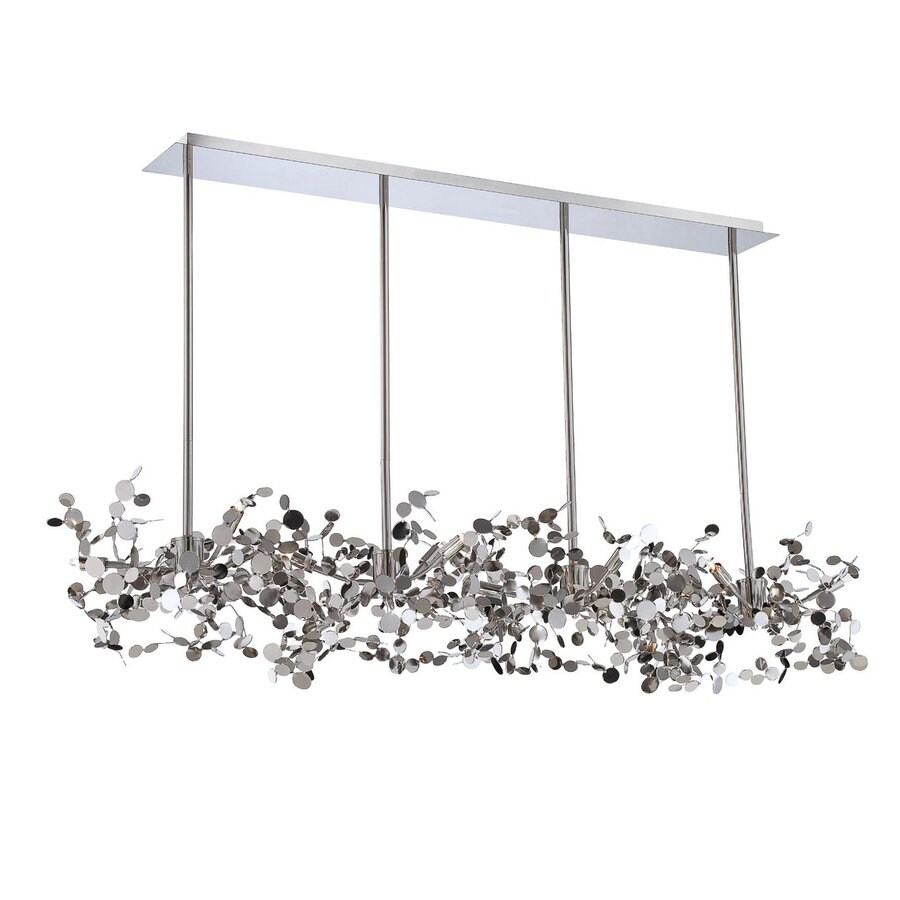 Eurofase Divo 19.75-in W 12-Light Nickel Kitchen Island Light
