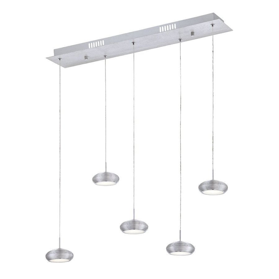 Eurofase Venti 7.25-in W 5-Light LED Kitchen Island Light with Aluminum Shades