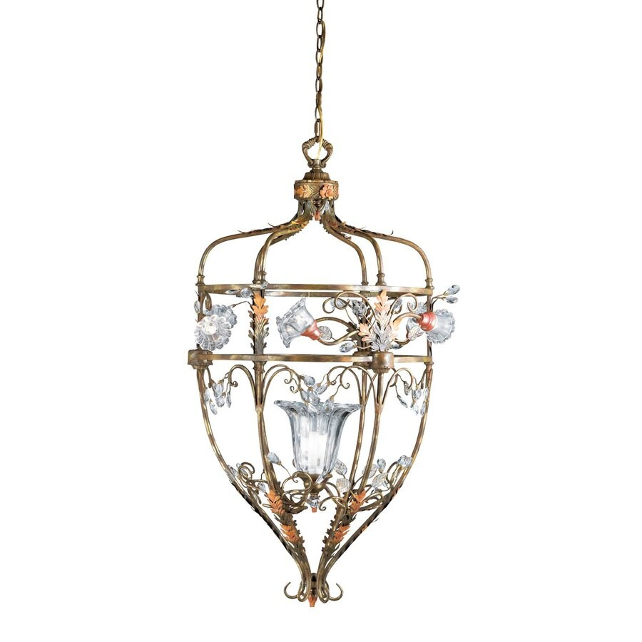 Eurofase Calista 23-in Russett Country Cottage Cage Pendant