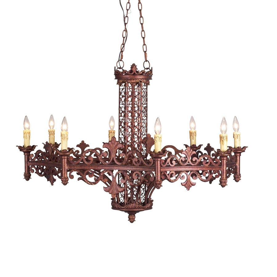 Eurofase Modesa 42-in 8-Light Bronze Mediterranean Candle Chandelier