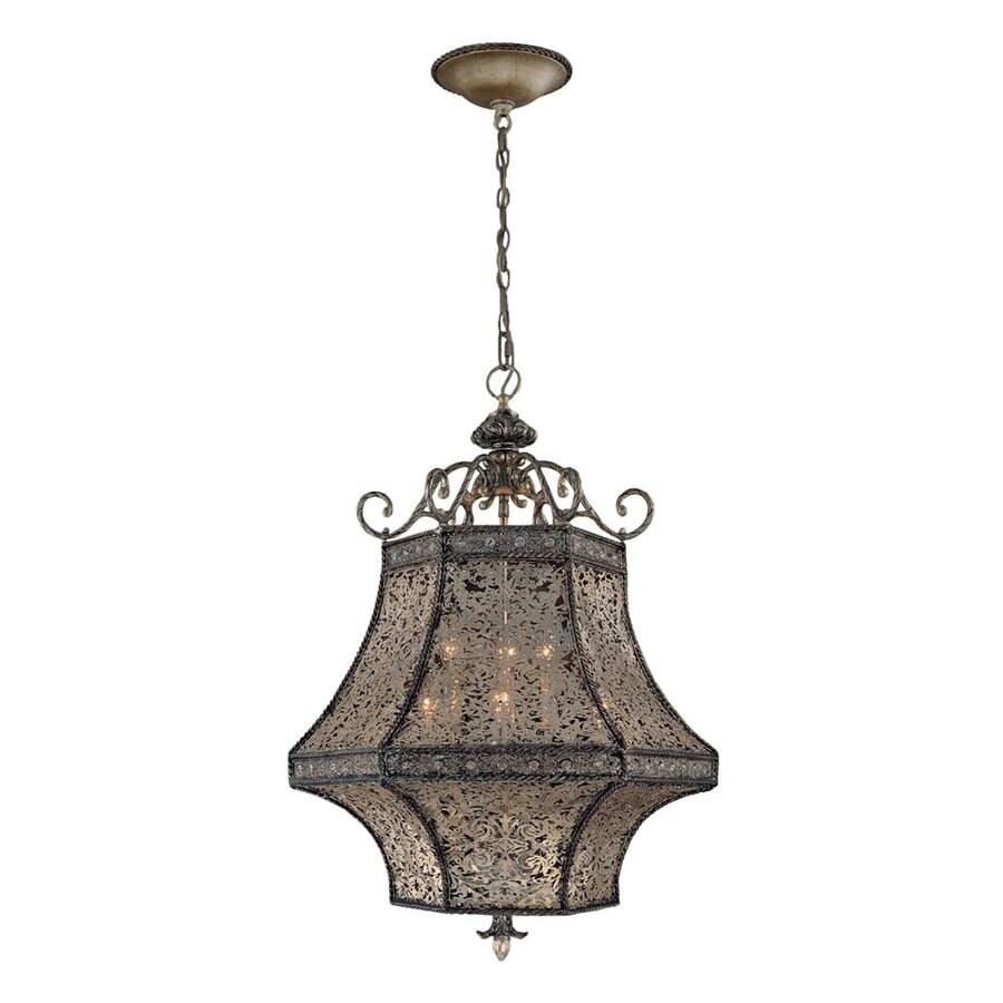 Eurofase Bellini 24-in Rustic Silver Mediterranean Lantern Pendant