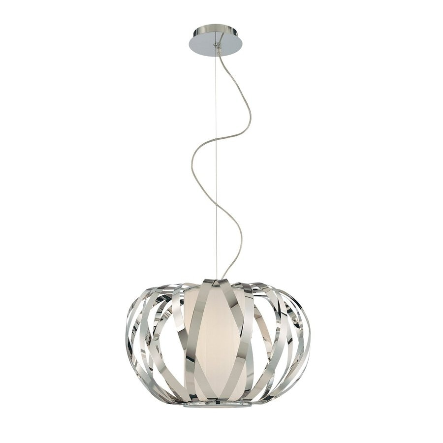 Eurofase Equate 20.5-in Chrome Cage Pendant