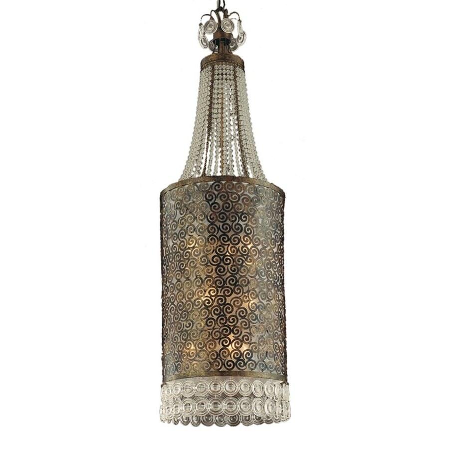 Eurofase Caramel 13.75-in Ancient Bronze Mediterranean Crystal Lantern Pendant
