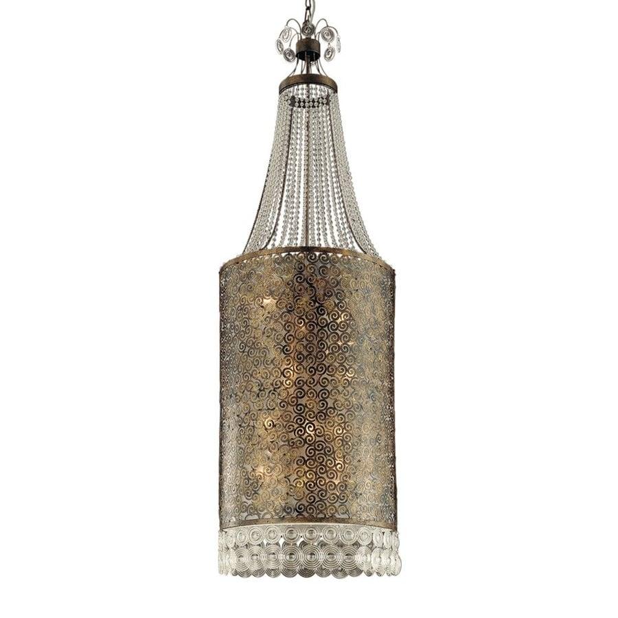 Eurofase Caramel 19.75-in Ancient Bronze Mediterranean Crystal Lantern Pendant