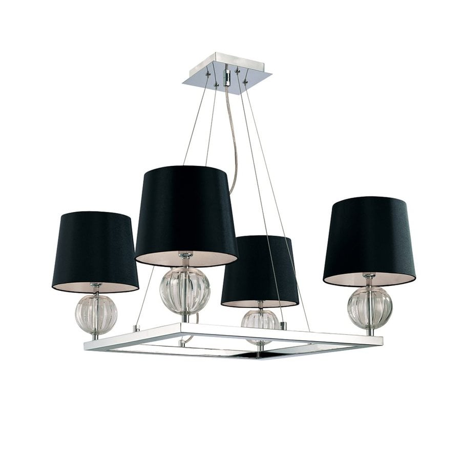 Eurofase Speranza 25.75-in 4-Light Chrome Shaded Chandelier
