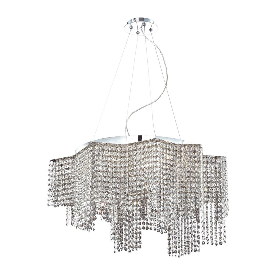Eurofase Celestino 29-in Chrome Smoke Crystal Geometric Pendant