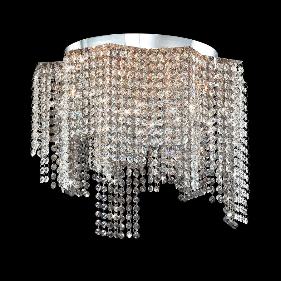 Eurofase Celestino 20-in W Chrome Crystal Flush Mount Light