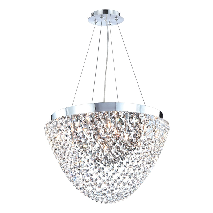 Eurofase Solana 20-in Chrome Smoke Crystal Acorn Pendant