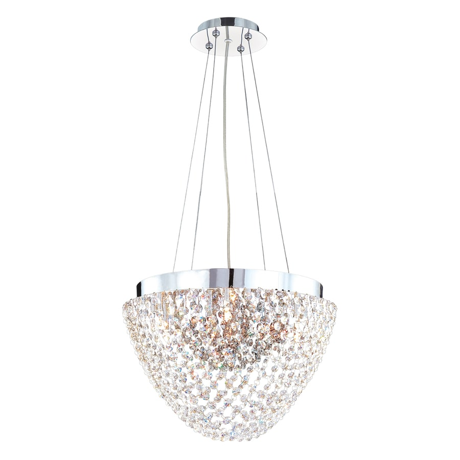 Eurofase Solana 16.25-in Chrome Smoke Crystal Acorn Pendant