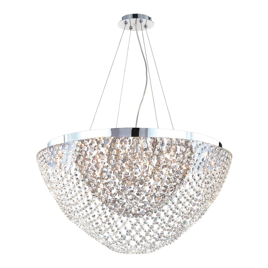 Eurofase Solana 31-in Chrome Smoke Crystal Acorn Pendant