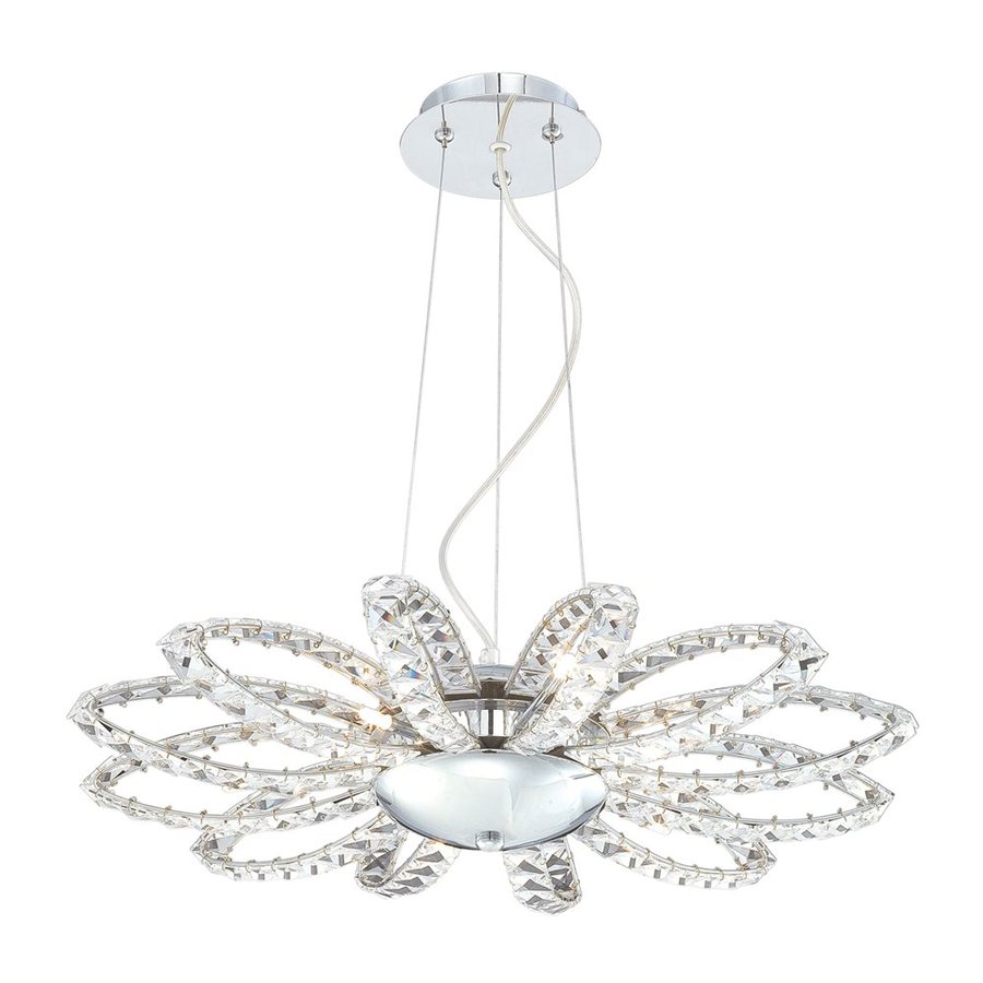 Eurofase Farella 24-in 6-Light Chrome Crystal Chandelier