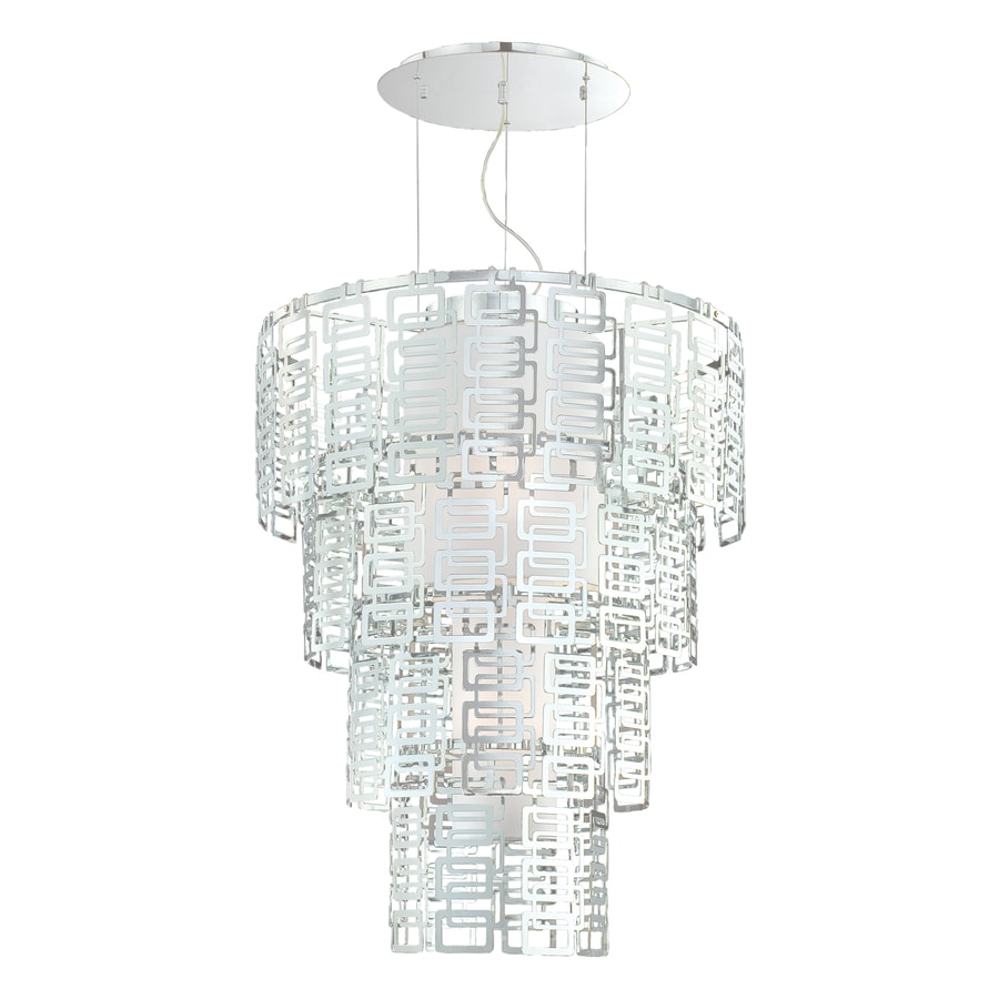 Eurofase Razel 30-in Chrome Geometric Pendant