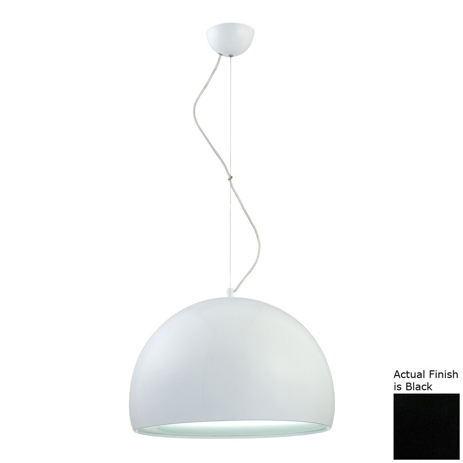 Eurofase Bollo 19-in Black Industrial Dome Pendant