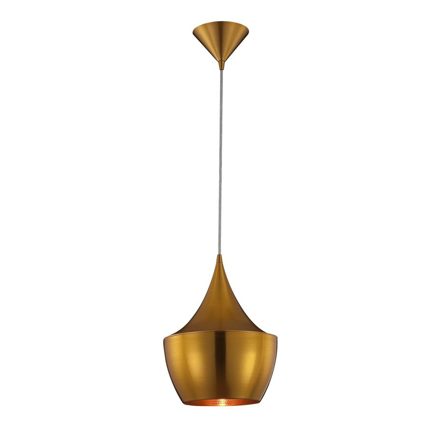 Eurofase Piquito 9 5 In W Antique Gold Mini Pendant Light With Shade