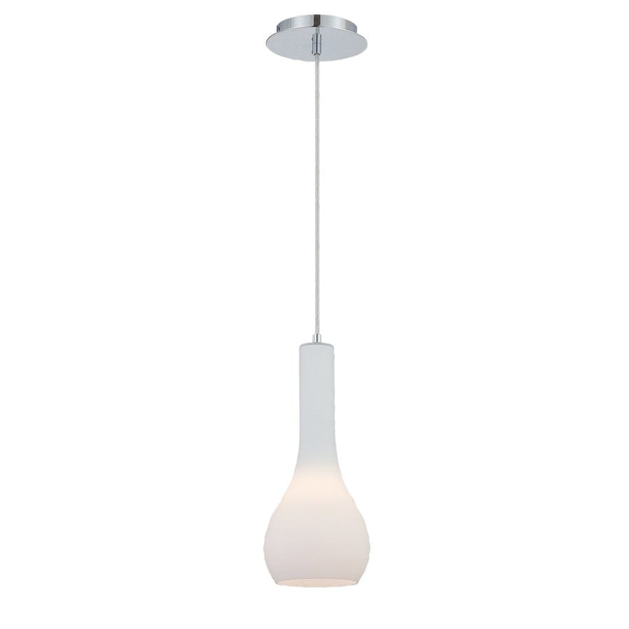 Eurofase Sirro 6-in Chrome Industrial Mini Teardrop Pendant
