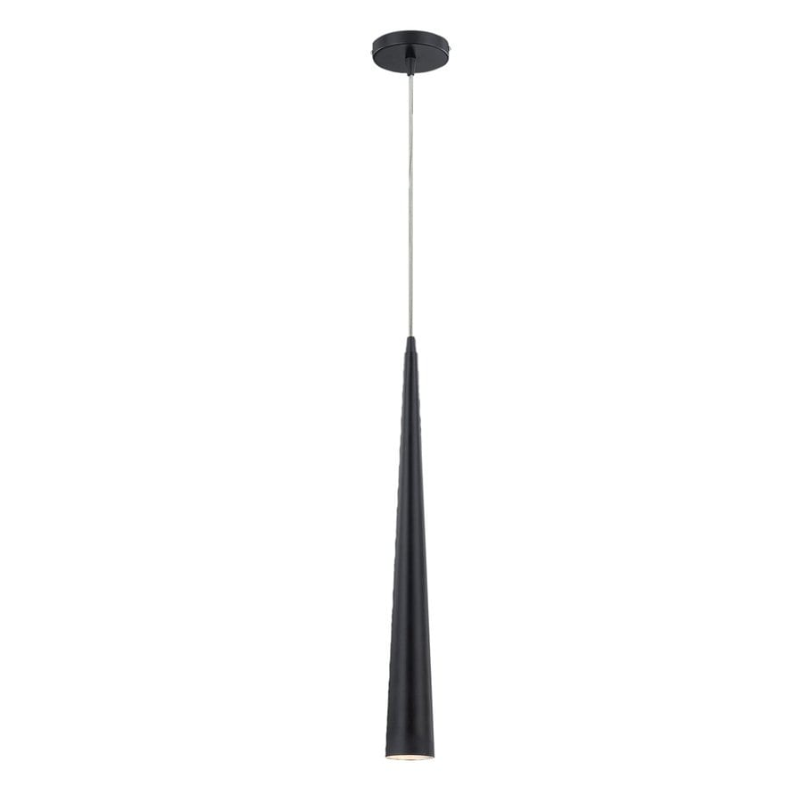 Eurofase Sliver 2.75-in Black Industrial Mini Cone Pendant