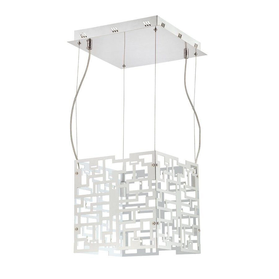 Eurofase Metrix 11.75-in Chrome Square LED Pendant