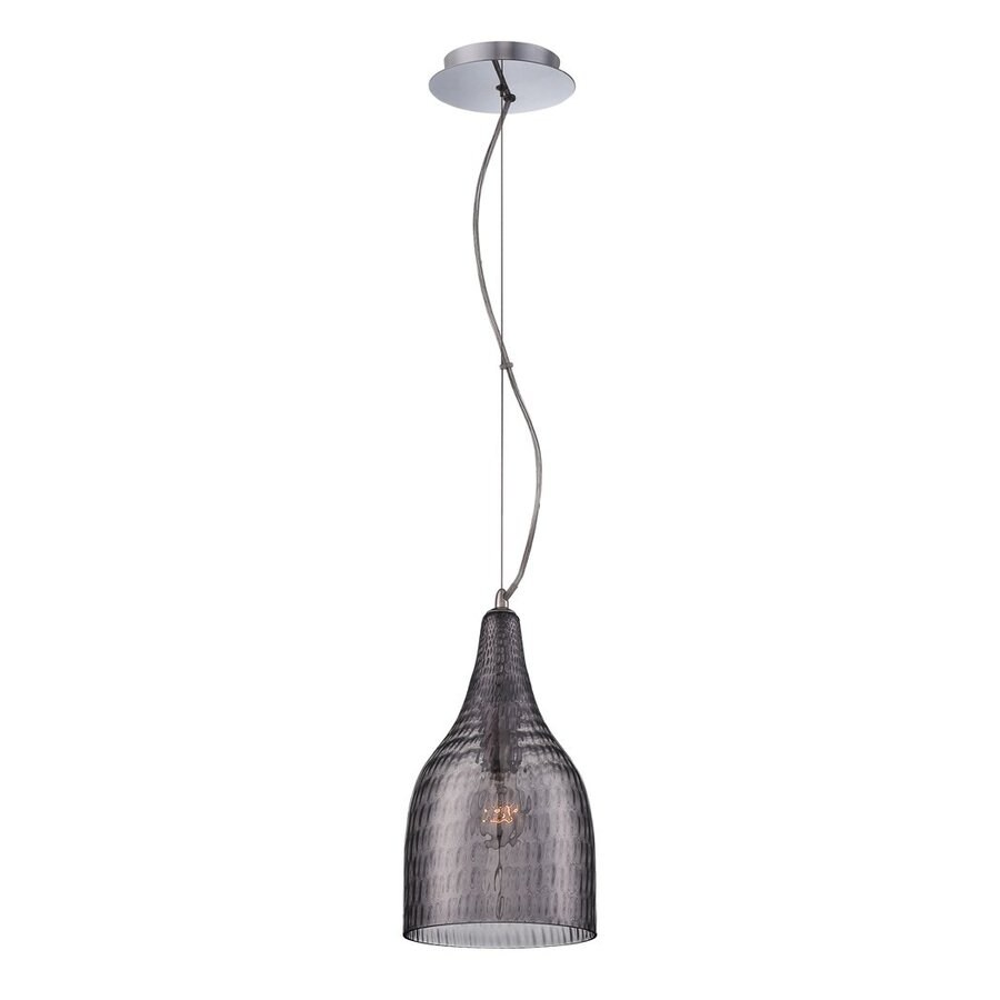 Eurofase Altima 7.25-in Chrome Industrial Mini Tinted Glass Bell Pendant