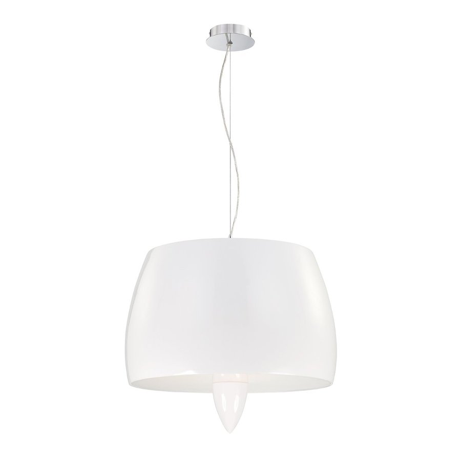 Eurofase Lola 21.5-in White Industrial Drum Pendant