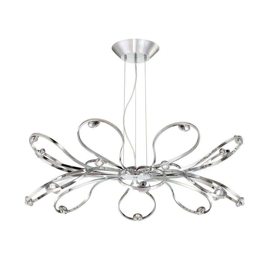 Eurofase Aria 39.5-in 16-Light Chrome Abstract LED Chandelier