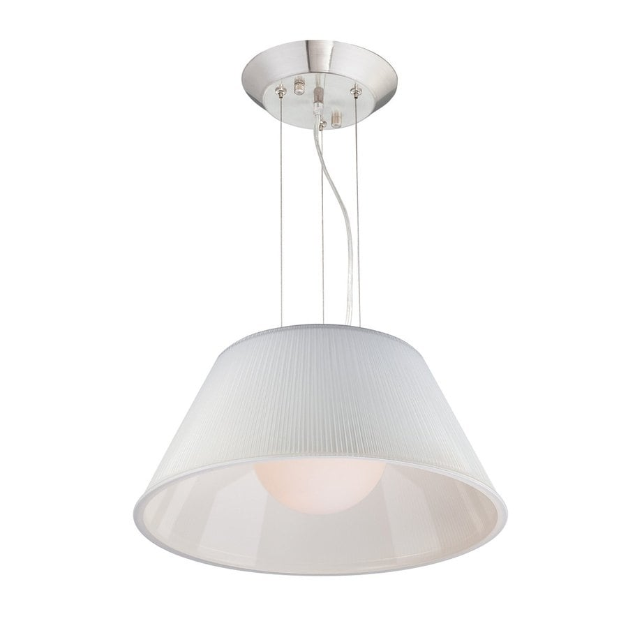 Eurofase Ribo 19.5-in Chrome Industrial Ribbed Glass Drum Pendant