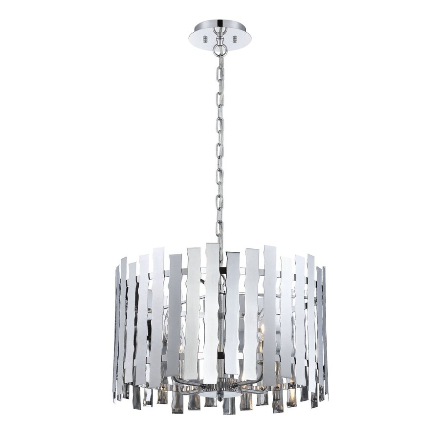 Eurofase Nastro 19-in Chrome Industrial Drum Pendant