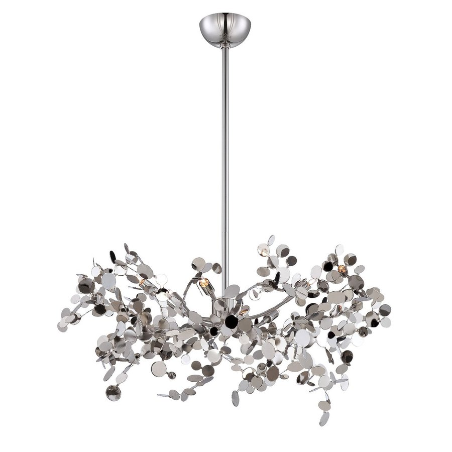 Eurofase Divo 26-in 5-Light Nickel Abstract Chandelier