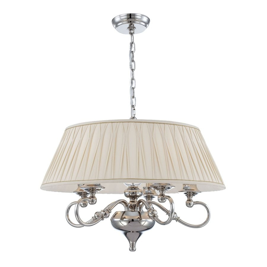 Eurofase Sophia 23.5-in 5-Light Polished Nickel Vintage Drum Chandelier
