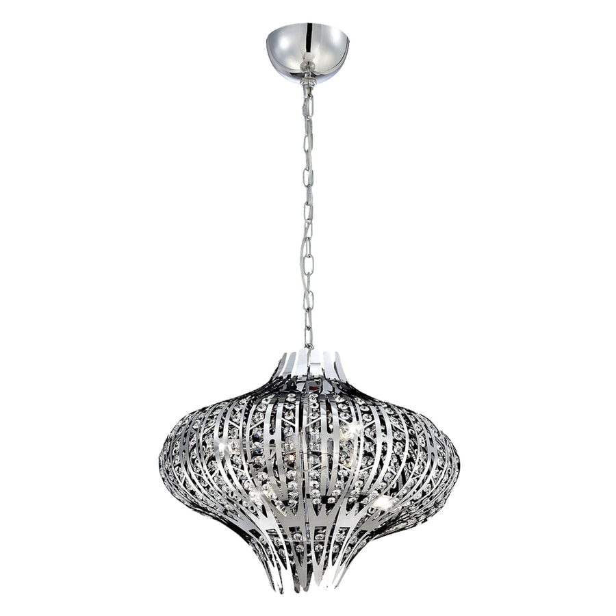 Eurofase Monica 19.5-in Chrome Crystal Pendant