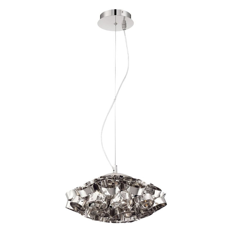 Eurofase Grace 14-in Nickel Oval Pendant